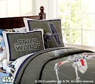 <em>Star Wars</em>&#8482; x-wing &#38; TIE Fighter&#8482; Quilt, Twin