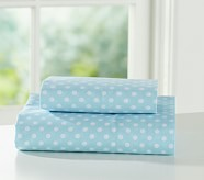 Mini Dot Toddler Sheet Set, Blue