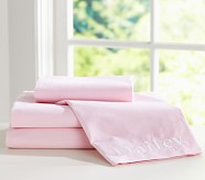 Chambray Pillowcase, Standard, Pink