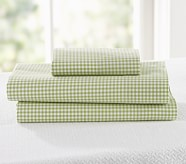 Gingham Toddler Pillowcase, Green