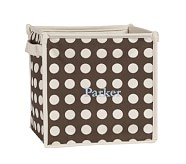 Dot Square Pop-Up Tote, Chocolate Dot