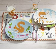 Fox and Squirrel Alphabet Animal Collection, Plate, Set of 2