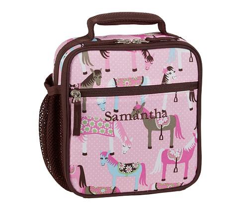 Mackenzie Chocolate Horse Classic Lunch Bag