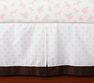 Animal Parade Crib Skirt, Pink