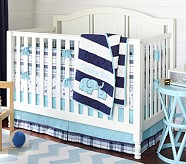 Camden Nursery Bumper Bedding Set: Crib Skirt, Crib Fitted Sheet & Bumper