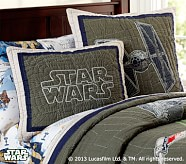 <em>Star Wars</em>&#8482; x-wing &#38; TIE Fighter&#8482; Quilted Sham, Standard
