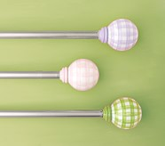 """Gingham Hardware, Small, 28-48"""", Pink"""
