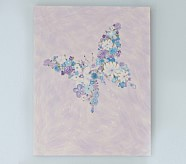 Butterfly Flower Plaque, Lavender