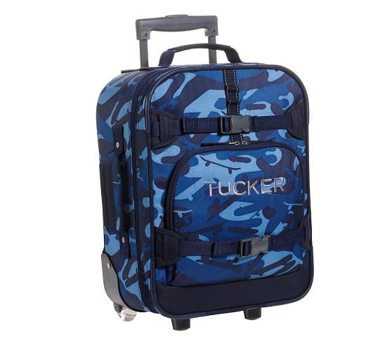 Mackenzie Blue Camo Small Luggage