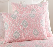 Claire Standard Quilted Sham, Pink
