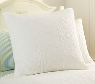 Whitney Euro Quilted Sham, White