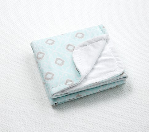 Claire Chamois Stroller Blanket, Aqua