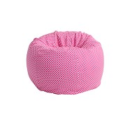 Anywhere Beanbag® Slipcover Only, Bright Pink Mini Dot
