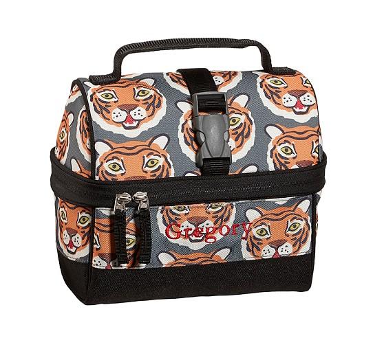 Mackenzie Chocolate Tiger Retro Lunch Bag