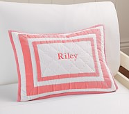 Harper Small Quilted Sham, Bright Coral