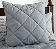 Dylan Euro Quilted Sham, Gray