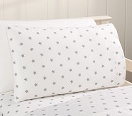 Star Toddler Pillowcase, Gray
