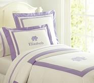 Elephant Applique Duvet Cover, Twin, Lavender