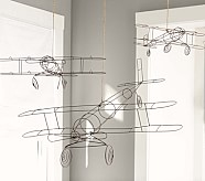 Wire Hanging Airplane, Medium