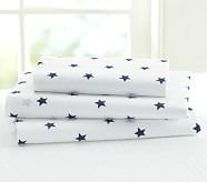 Star Toddler Sheet Set, Navy