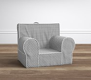 Gray Mini Dot With White Piping Anywhere Chair®