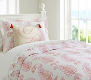 Elyse Duvet Cover, Twin, Pink/Coral