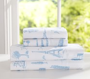Priscilla Sheet Set, Twin, Blue