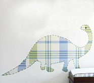 Madras Dino Wall Decals, Green