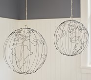 Wire Hanging Globe, Small