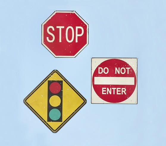 Rustic Street Signs, Set of 3