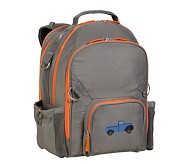 Fairfax Gray/Orange Large Backpack, Truck