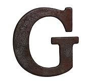 Faux Bronze Letter, G