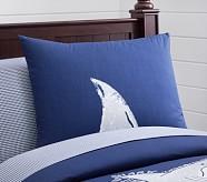 Oversized Shark Standard Sham, Navy