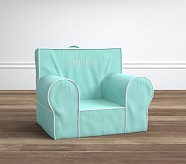 Aqua with White Piping Anywhere Chair®