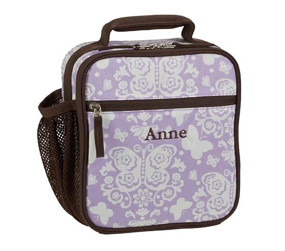 Mackenzie Lavender Damask Classic Lunch Bag