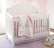 Simone Nursery Quilt Bedding Set: Toddler Quilt, Crib Skirt & Crib Fitted Sheet