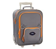Fairfax Gray/Orange Small Luggage, Football