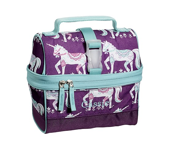 Mackenzie Plum Unicorn Retro Lunch Bag