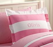 Rugby Stripe Standard Sham, Pink