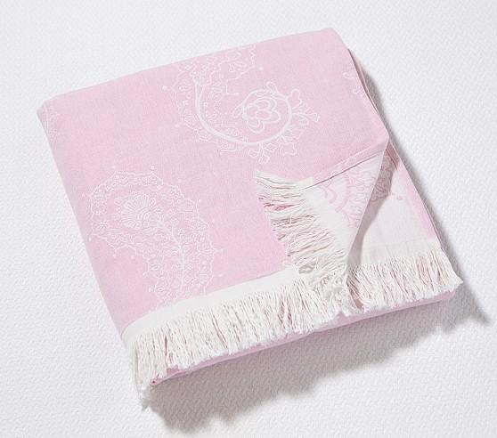 Paisley Throw, Pink