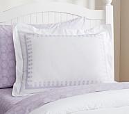 Embroidered Standard Sham, Lavender
