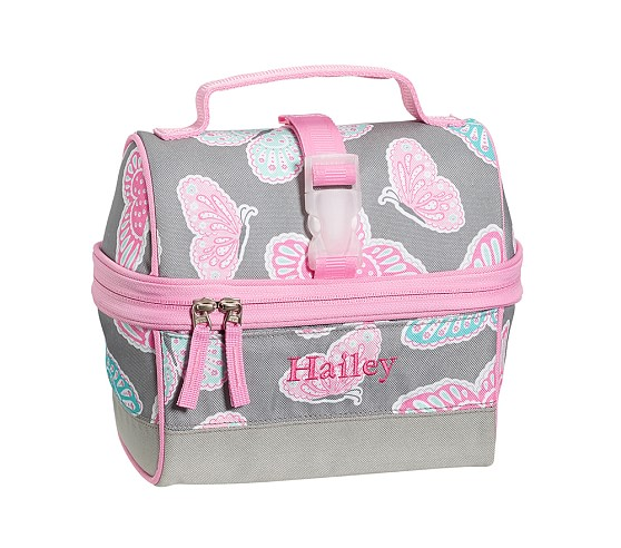 Mackenzie Gray Butterfly Retro Lunch Bag
