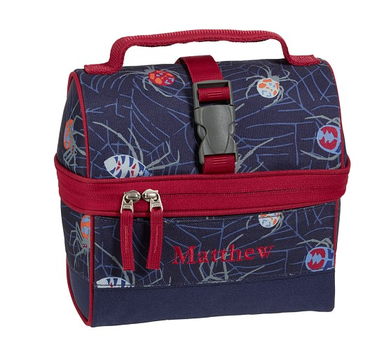 Mackenzie Navy Spider Retro Lunch Bag