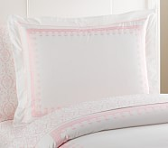 Embroidered Standard Sham, Pink