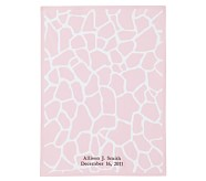 Animal Parade Stroller Blanket, Pink Giraffe