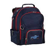 Fairfax Navy/Red Large Backpack, Truck