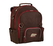 Fairfax Chocolate/Red Large Backpack, Dino