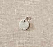 Silver Initial Pendant, D
