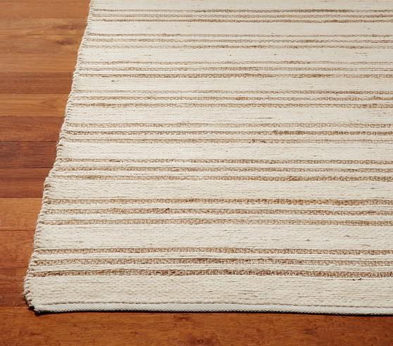 Chenille Stripe Jute Rug 3x5'