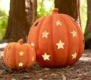 Jumbo Orange Pumpkin with Stars Luminary